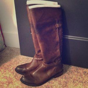 Gianni Bini tall brown leather boots